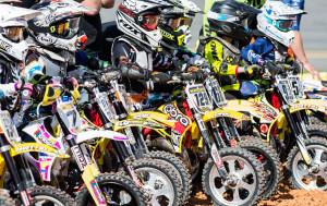 Cobra Moto bikes lined up at Daytona