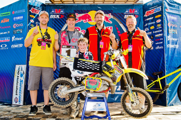 Cobra Moto staff with Jett L to R John Penrod, Phil McDowell, Sean Hilbert and Tyson TenEyck