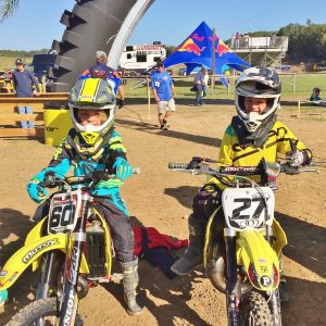 Cobra Moto's Casey Cochran and Kristian Janik at Mini Os