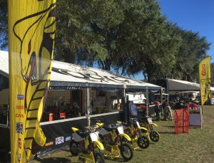 Cobra Moto's trackside support @ 2015 Mini Os